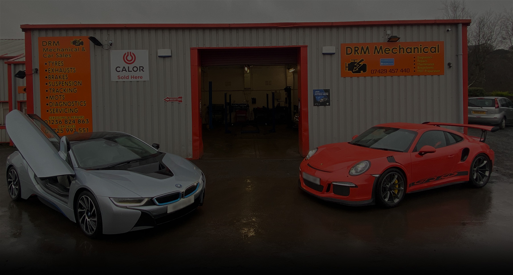 drm mechanical and car sales garage